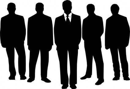 Men in black clip art