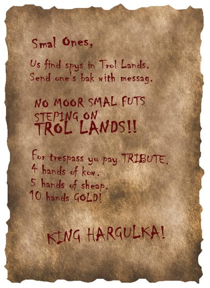 Troll letter