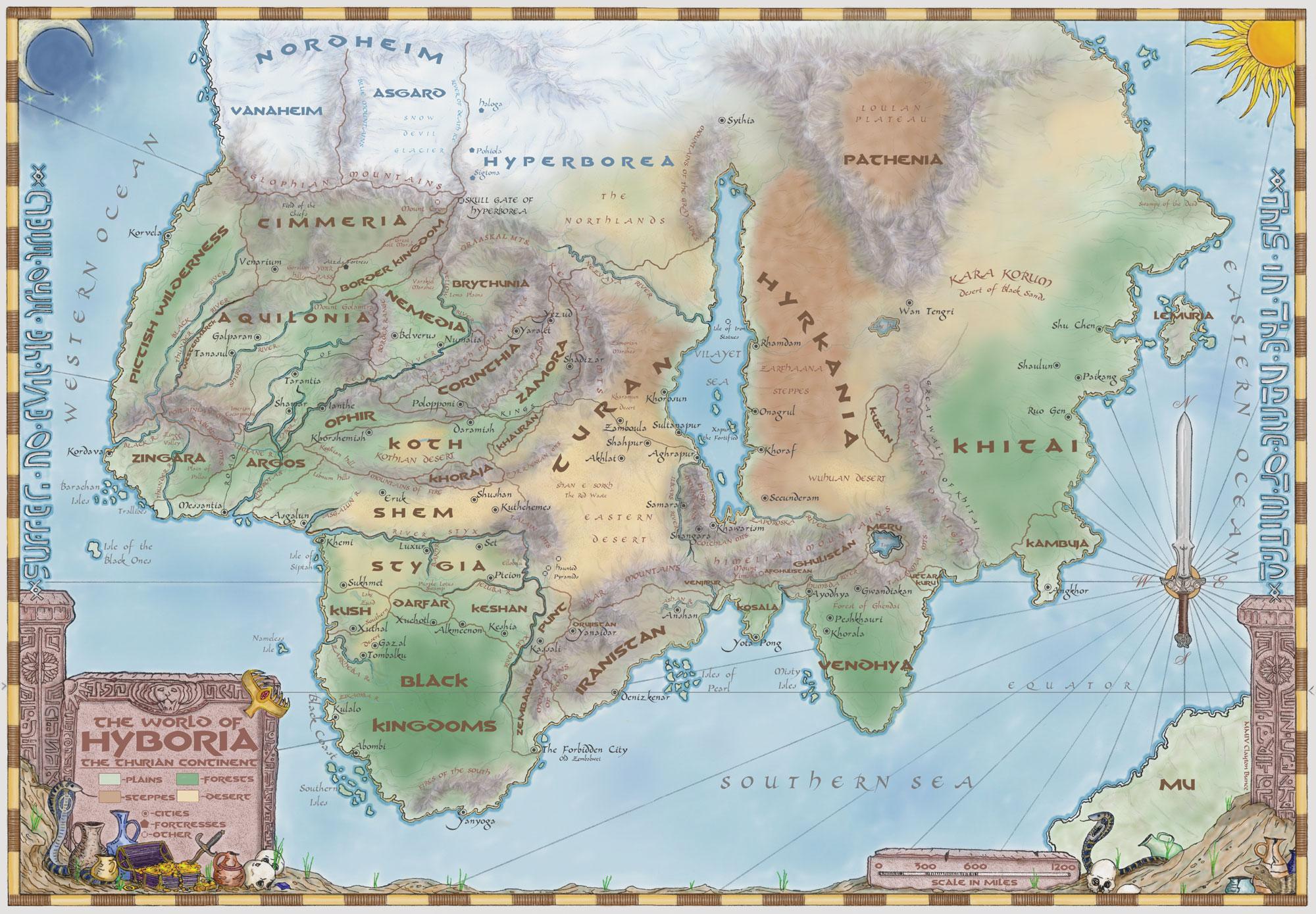 Map of the hyborian age