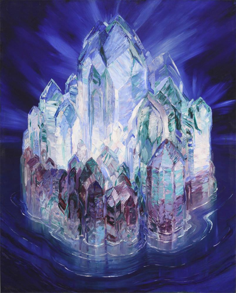 Crystal castle in the sea wenzel hablik 1914