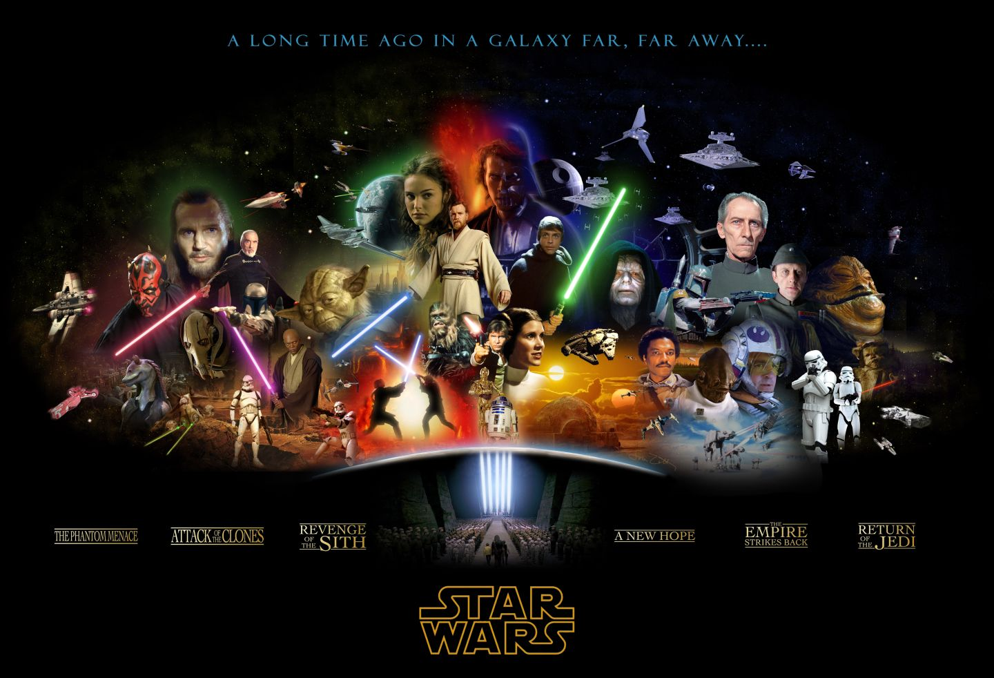Star wars complete saga poster star wars 425795 1440 982