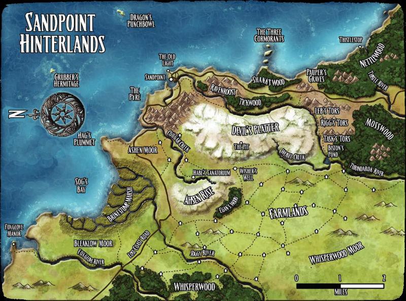 Sandpoint hinterlands map