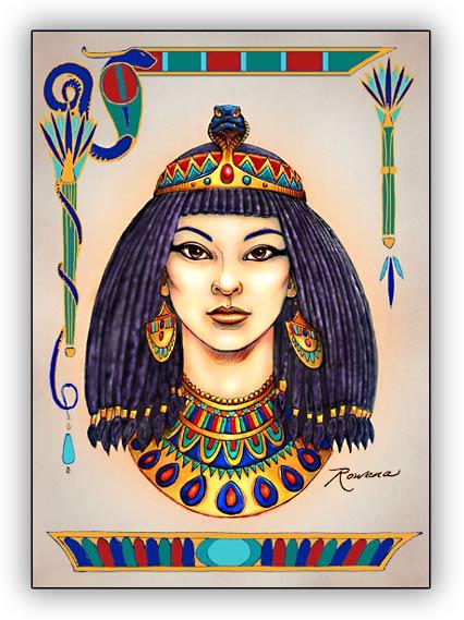 Egyptian girl bg
