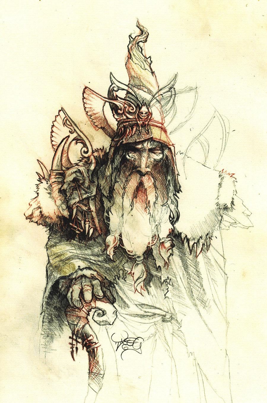 Azurenex druid character concept