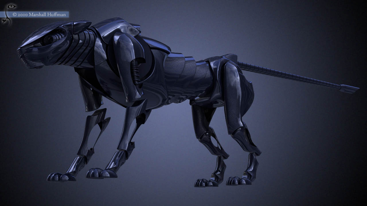 Panther robot body 07