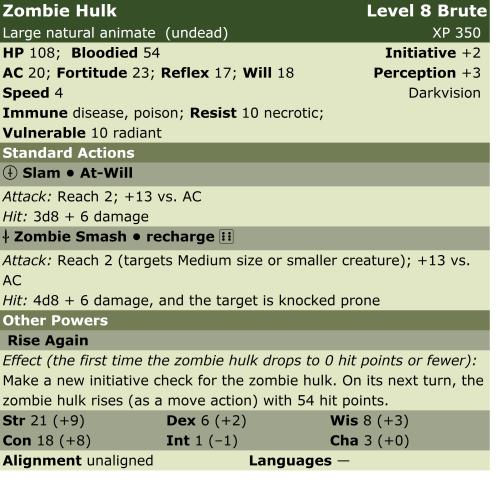 Zombie hulk  b8  lp