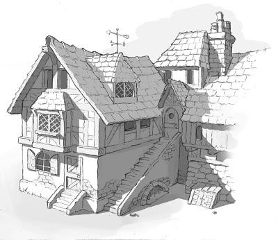 Concept art house basic shadows 19