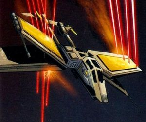 X83 twin tail starfighter