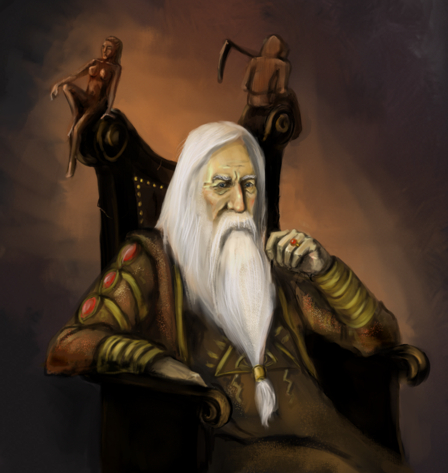 Old wizard by faustissima d3094f2