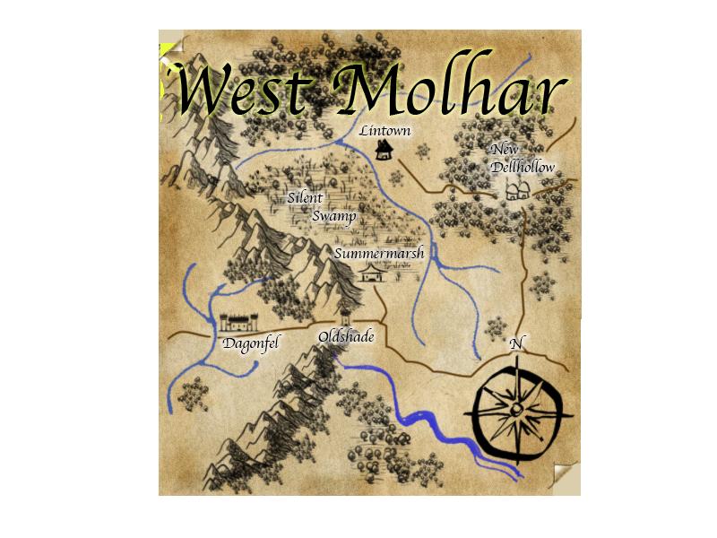 West molhar landmass