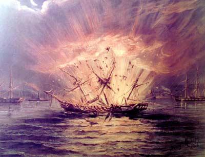 Ship explosion