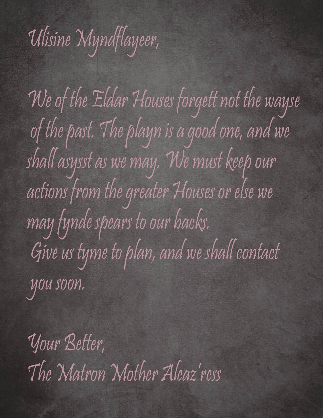 Matron mother letter