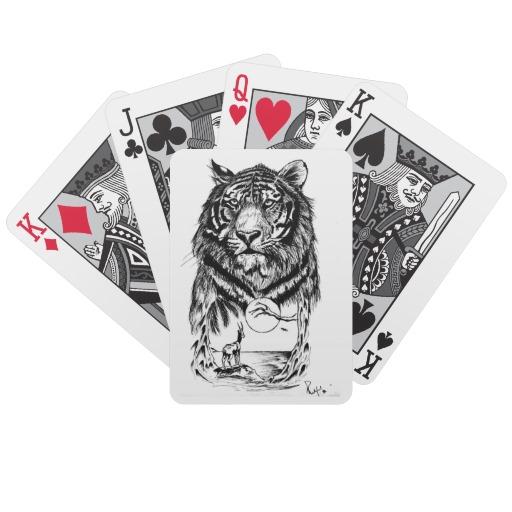 Tattoo tiger art playing cards r4e110b941a124d4ca6599430c6fd4bf1 fsvz5 8byvr 512