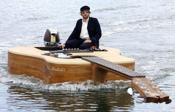 Guitar boat acoustic guitar creation 11