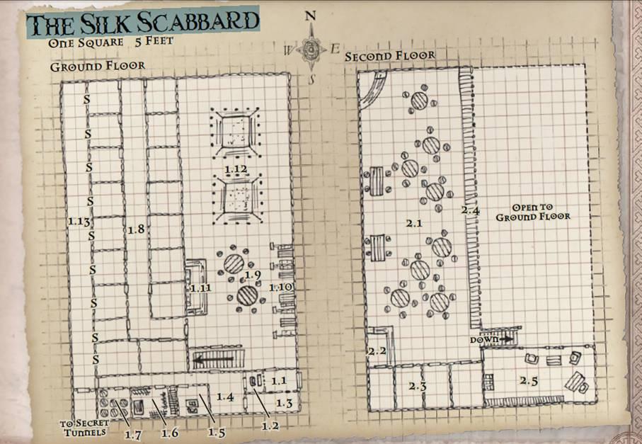 Silk scabbard