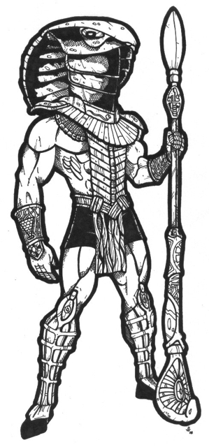 Stargate snake god by demented ink