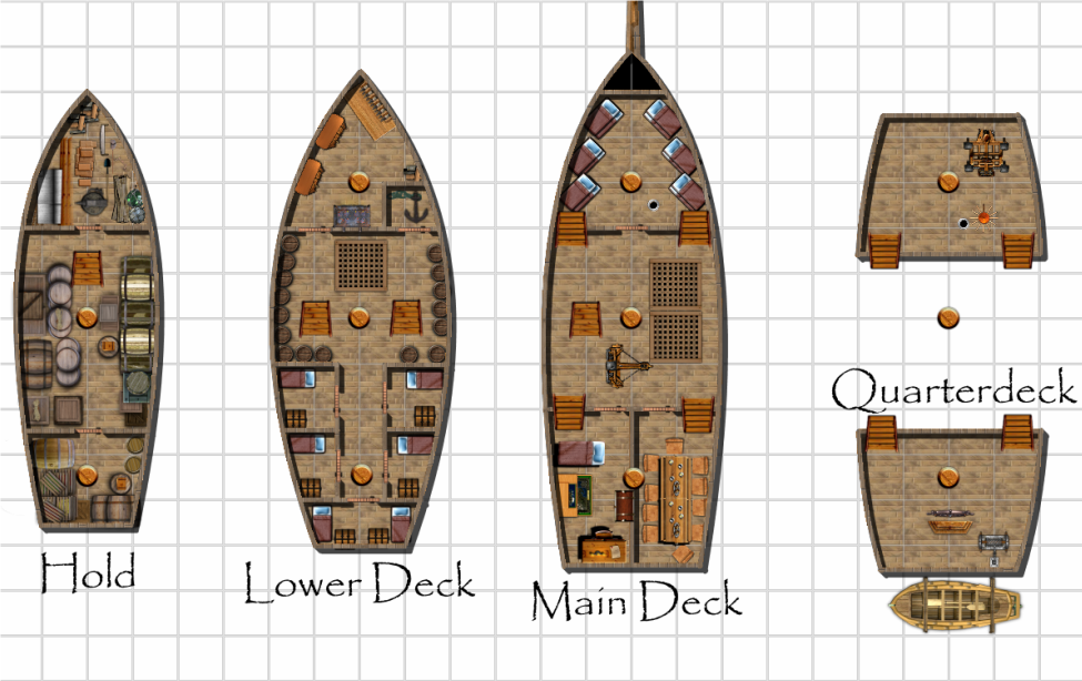 gallery for gt pirate ship deck plans