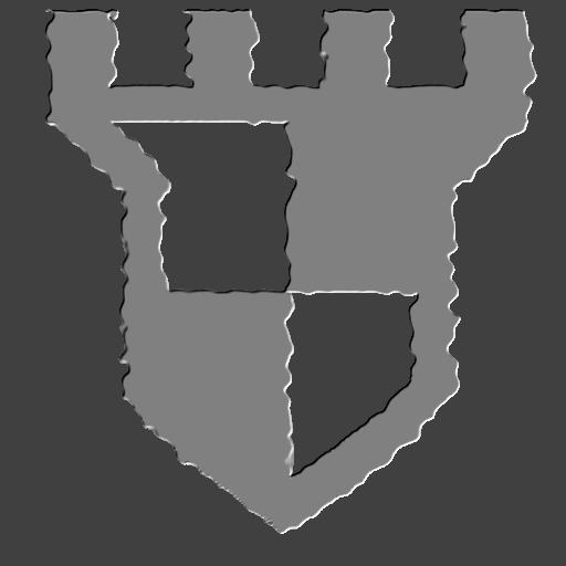 Crenulated shield