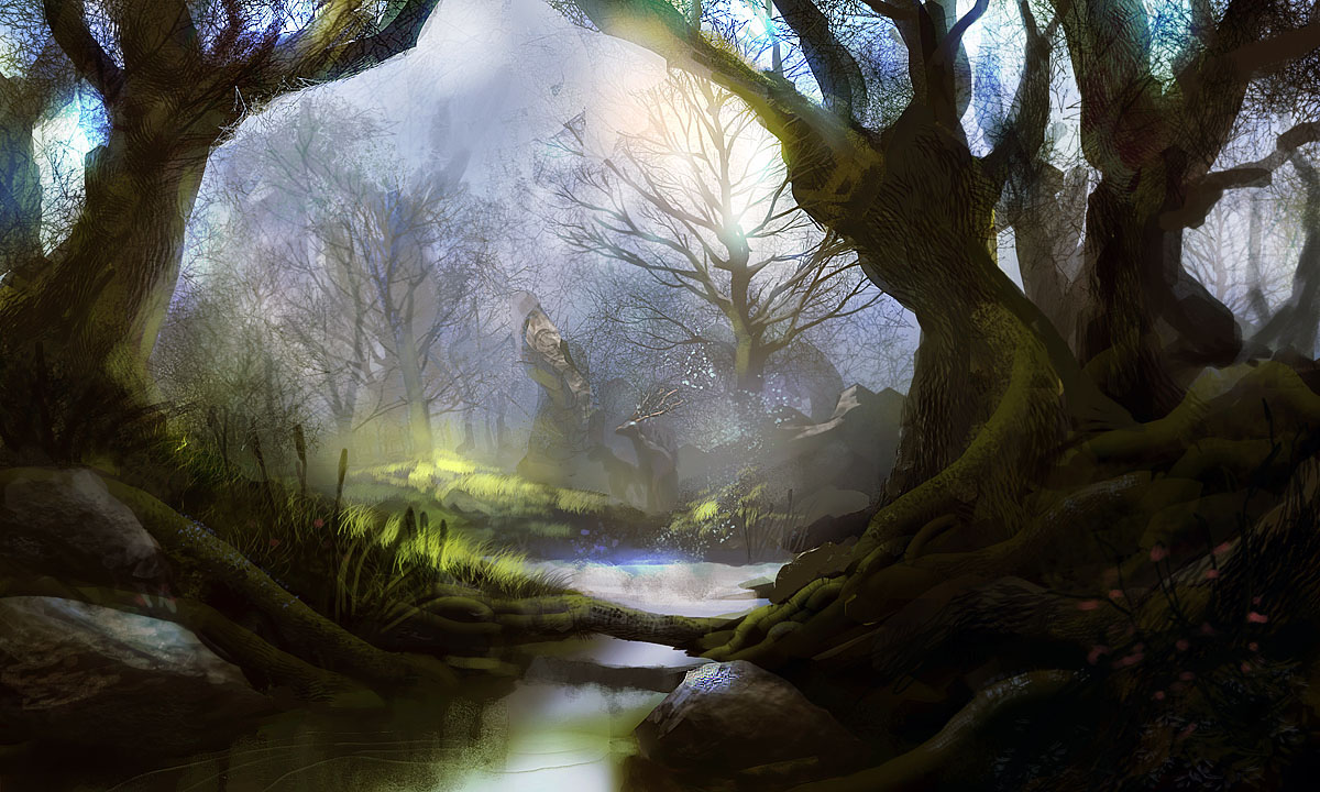 Mystic forest by pe travers
