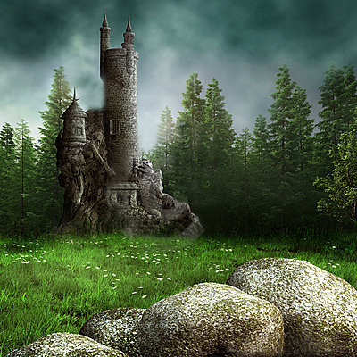 Fantasy meadow tower 20599452