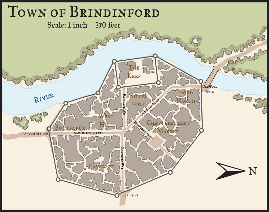 Map of brindinford