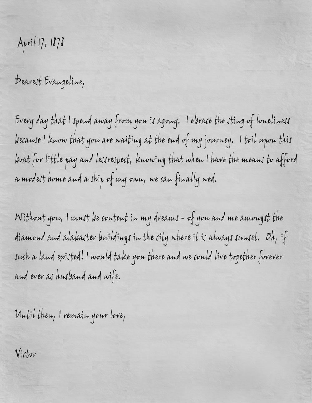 Vittorio letter english