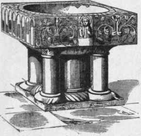 Fig 16 baptismal font in the church of saint peter at mont