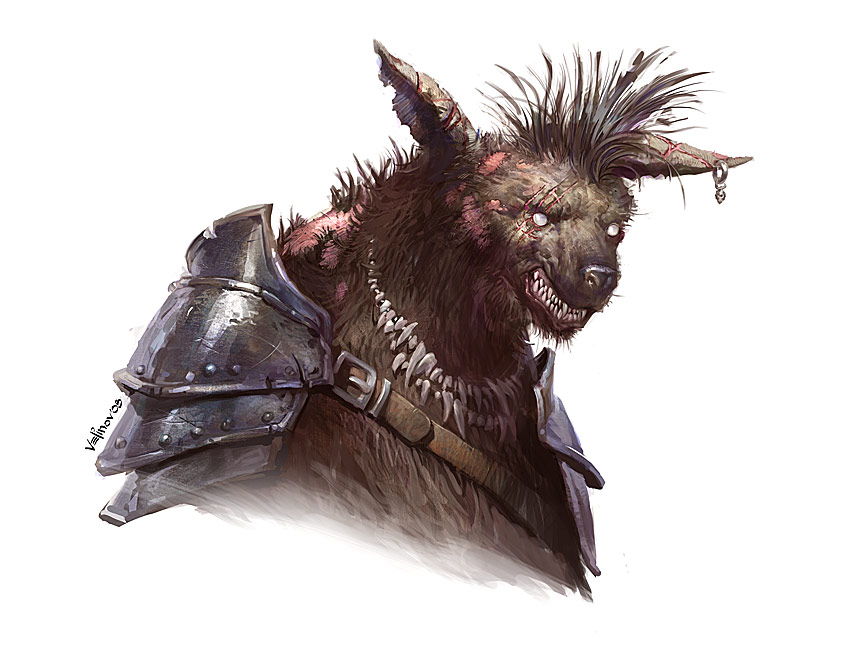 Gnoll necromancer by velinov