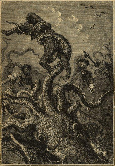 20000 squid holding sailor