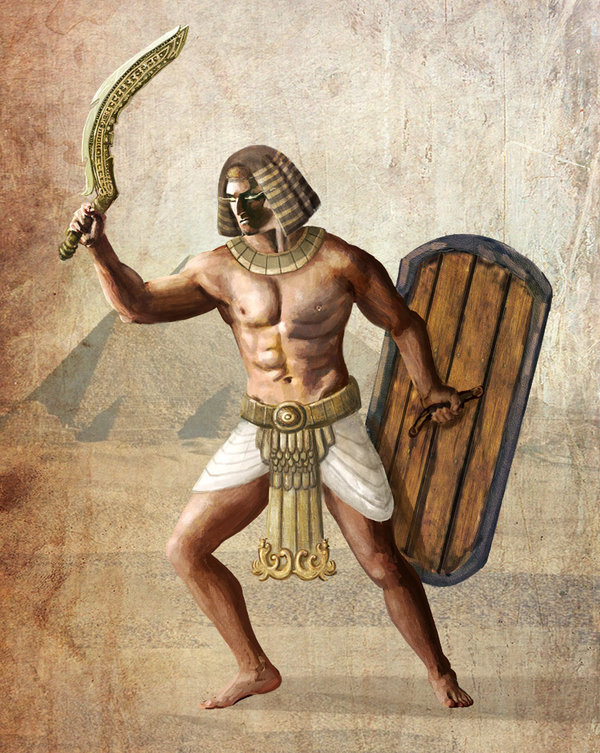 Egyptian warrior  by iceravenblack d42cuww