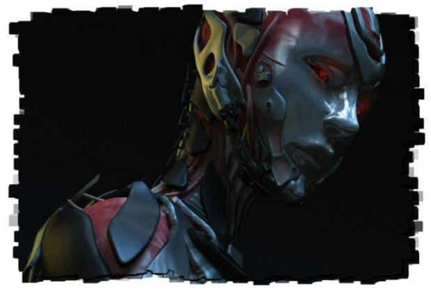 The necron human hybrid woman
