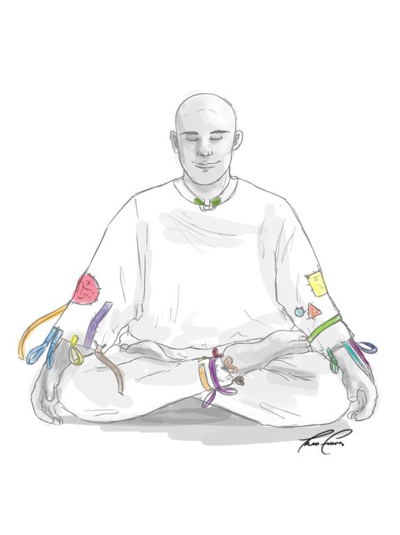 Dwarven monk in meditation