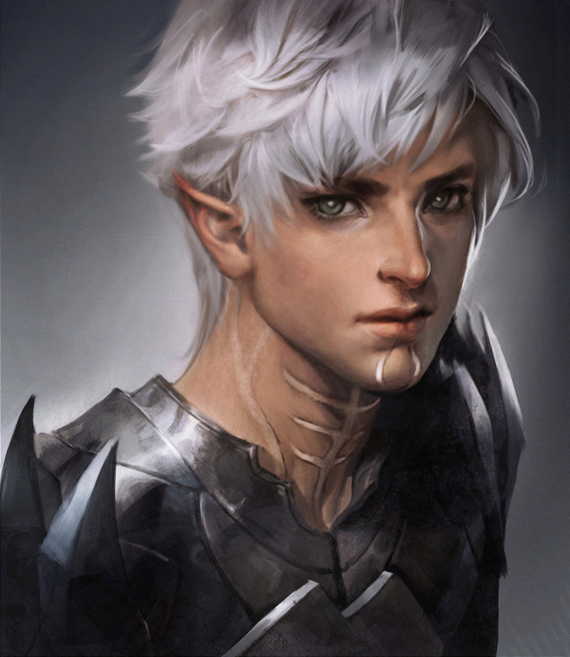 Fantasy Guy Art Short Hair