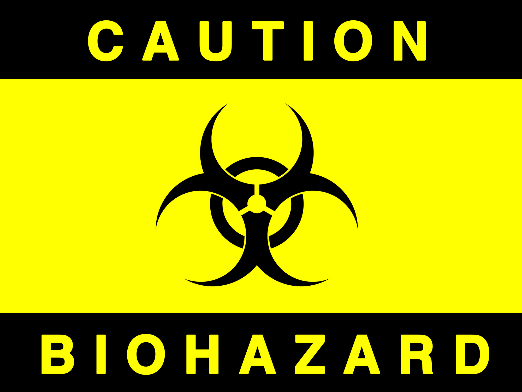Biohazard black yellow