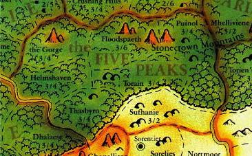 Five peaks