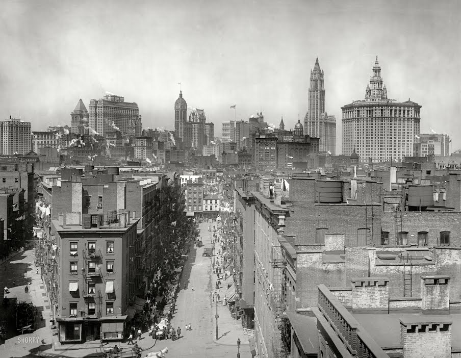 New york 1915 skyline