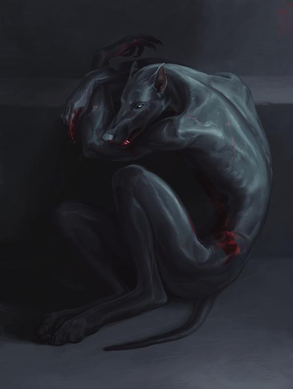Werewolf by atenebris  http://atenebris.deviantart.com/