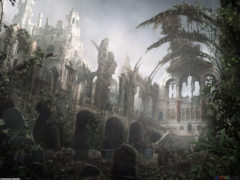 Fantasy ruins 1440x1080