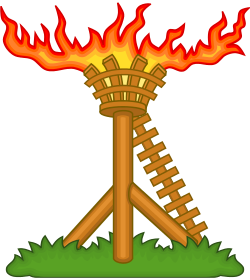 Holland beacon on fire badge w r