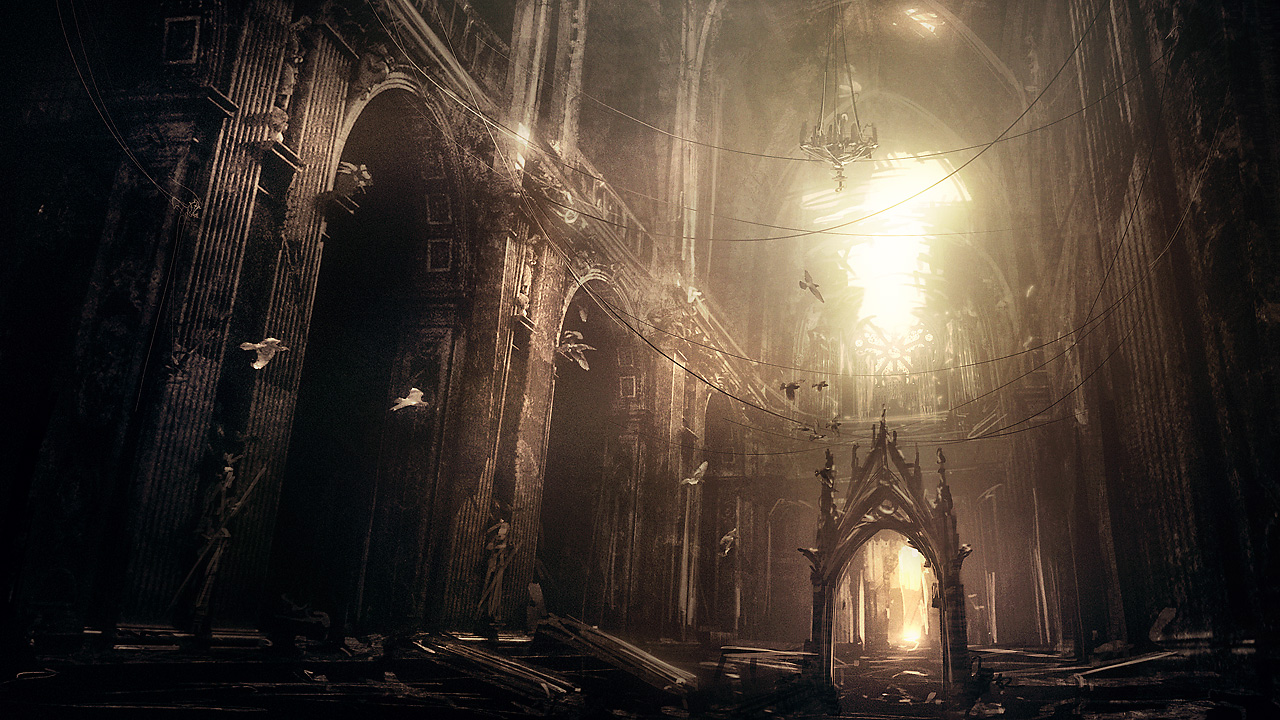 Abandoned gothic cathedral by i net gra fx
