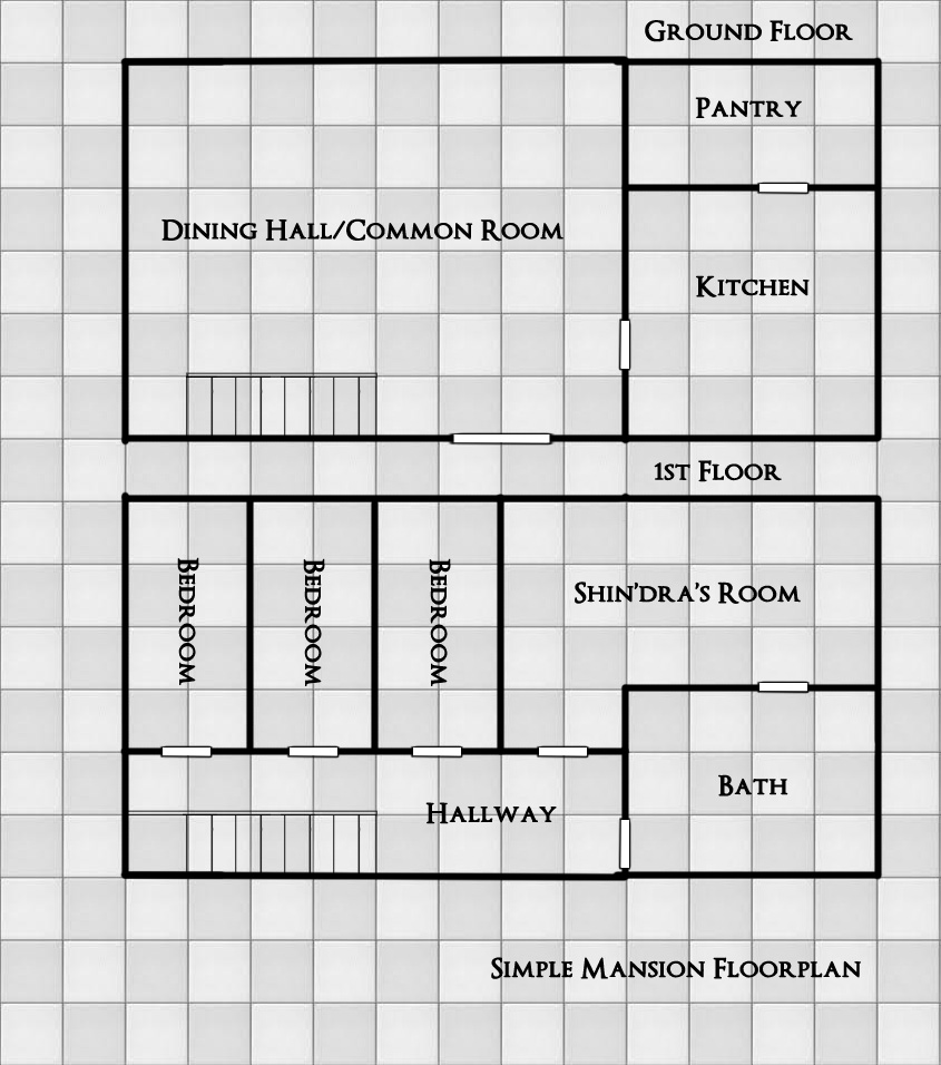 Simple mansion floorplan v1