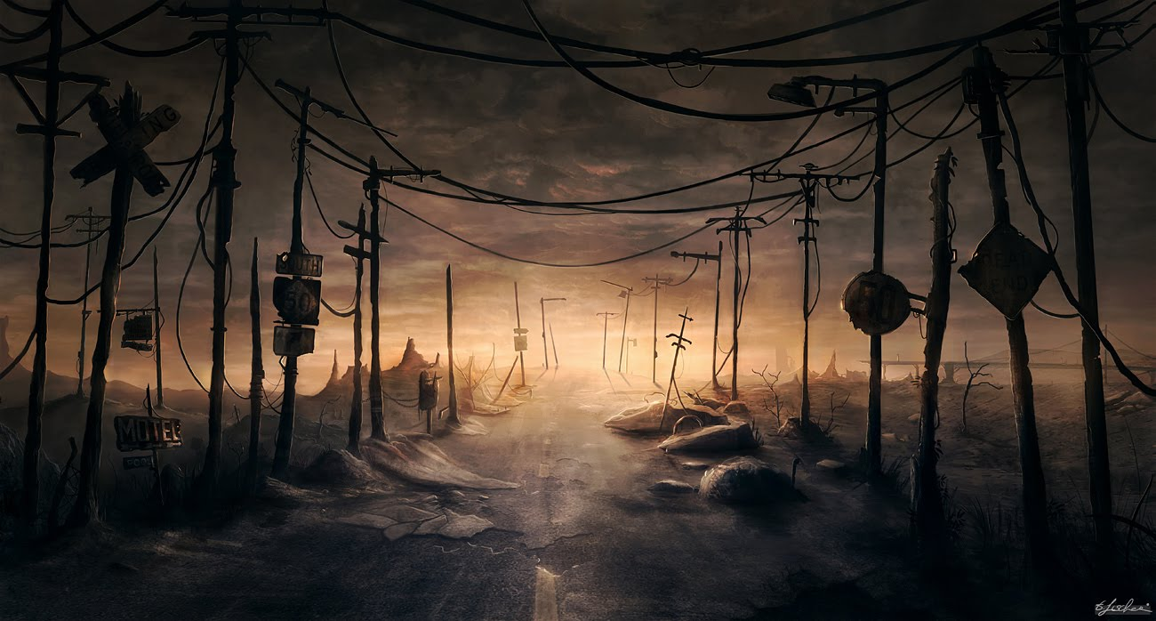 1300x698 566 lost road 2d landscape post apocalyptic picture image digital art thibault fischer