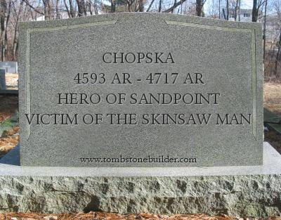 Chopska tombstone