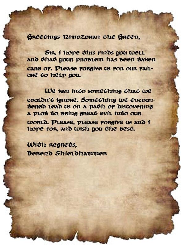 Letter to nimozoran