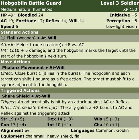 Hobgoblin battle guard  sol3  lp