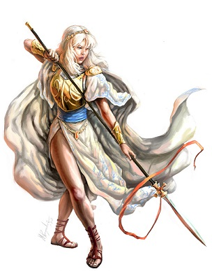 Female spear warrior
