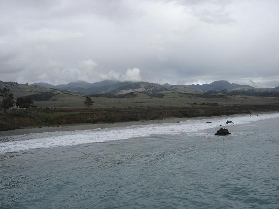View of coastal hills