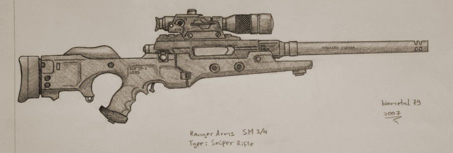 Ranger arms sniper rifle  sr  by biometal79