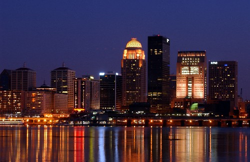 Louisville night skyline dan dry 54870