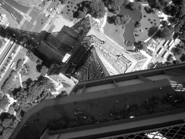 Eiffel tower from top platform